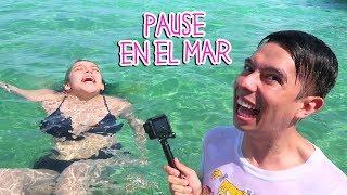 pausa challenge con youtubers y superando mi miedo al mar vlog 83