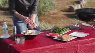 Camping For Foodies Kim Hanna Makes Turkey Burgers With Feta Cheese And Kalamata Olives Recipe
