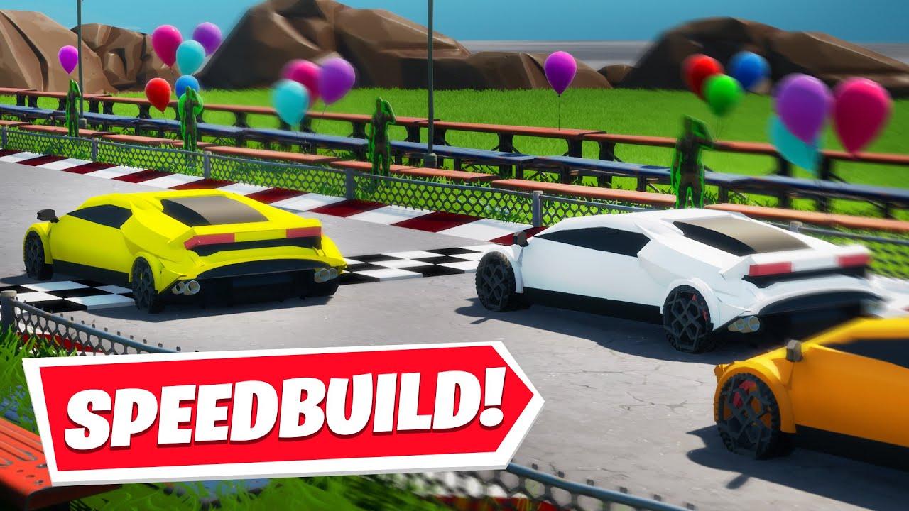 Building A Lamborghini Sports Car In Fortnite Youtube