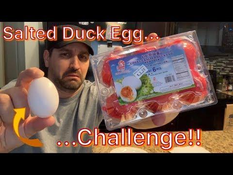 Salted Duck Egg Challenge!!