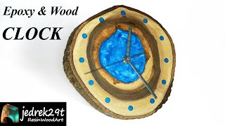 Epoxy and Wood Clock. DIY a Simple Way / RESIN ART