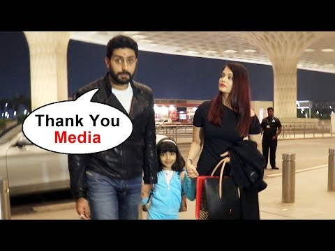 Aishwarya Rai, Abhishek Bachchan With Aaradhya SPOTTED At Airport