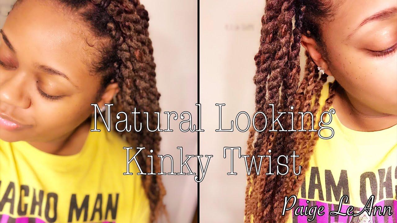 Natural Looking Kinky Twist On 4 Type Hair