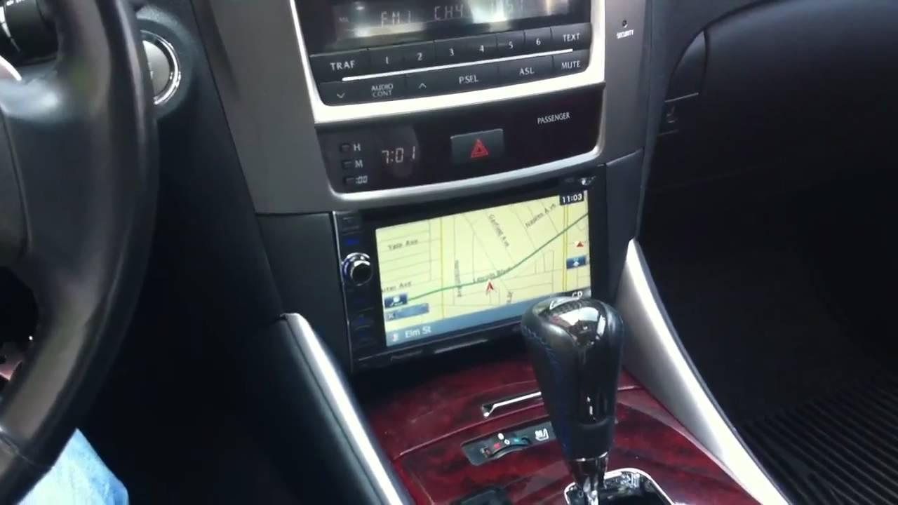 Lexus Is250 350 Double Din Pioneer Navigation Al Eds Marina Del Wiring Harness 2007 Rey Avic X930bt Youtube