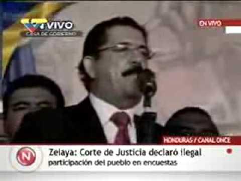 Honduras: Presidente Zelaya denuncia Golpe de Estado en su contra
