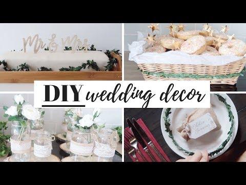 BUDGET DIY WEDDING DECORATIONS, CAKE AND FAVOURS | UK 2018