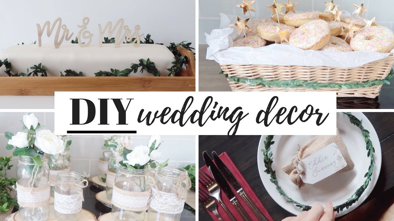 BUDGET DIY WEDDING DECORATIONS, CAKE AND FAVOURS