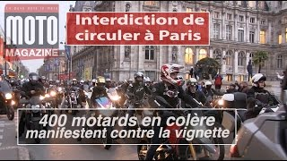 MANIF FFMC CONTRE L'INTERDICTION DE CIRCULER DES MOTOS (ZCR)