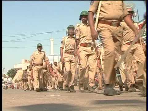 IPS OFFICER RAVI KRISHNA IN POLICE PEACE RALLY