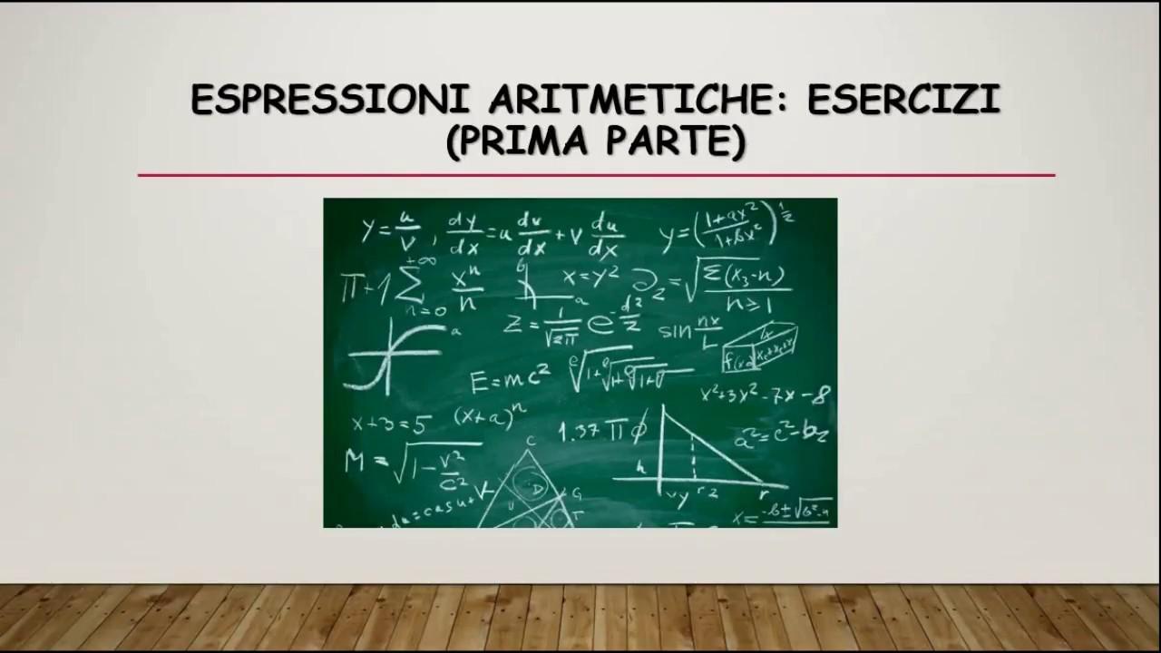 Matematica Espressioni Aritmetiche Esercizi Parte 1 Youtube