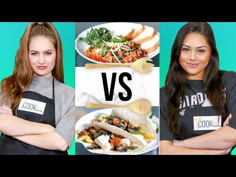 VEGAN CHALLENGE w/ Roxette Arisa & Courtney Randall | COOK THAT