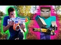 NERF Meets Minecraft NERF WAR FULL MOVIE FPS Mastodon Nerf Zombies Call Of Duty mp3