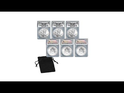 2017 MS69 PSW Silver Eagle Complete Mint Mint Set