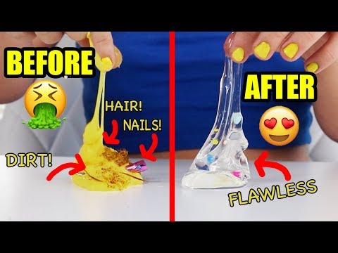 FIXING MY SUBSCIBER'S SLIME!!!! CAN I FIX UNFIXABLE SLIME? EXTREME SLIME MAKEOVER CHALLENGE