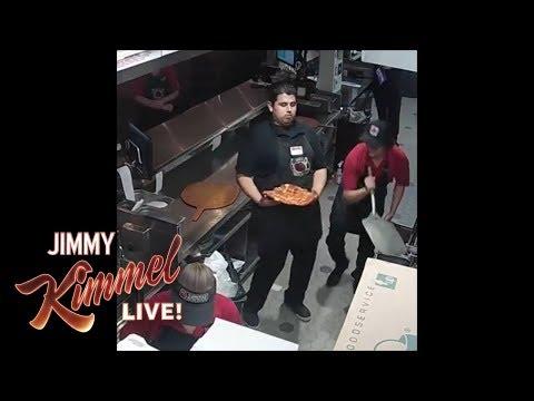Jimmy Kimmel Honors Viral Pizza Hero
