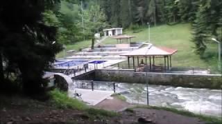 Грузия с детьми.Серия 12. Боржоми в поисках бассейна с минеральной водой река боржомка