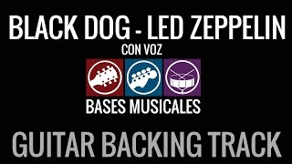 Black Dog Guitar Backing Track with voice Guitar backing track