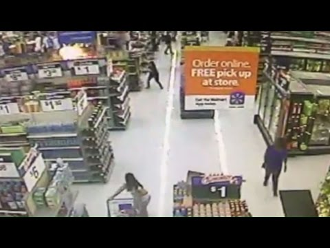 Fireworks Set Off Inside Phoenix Walmart, Sparking Fire (Video)