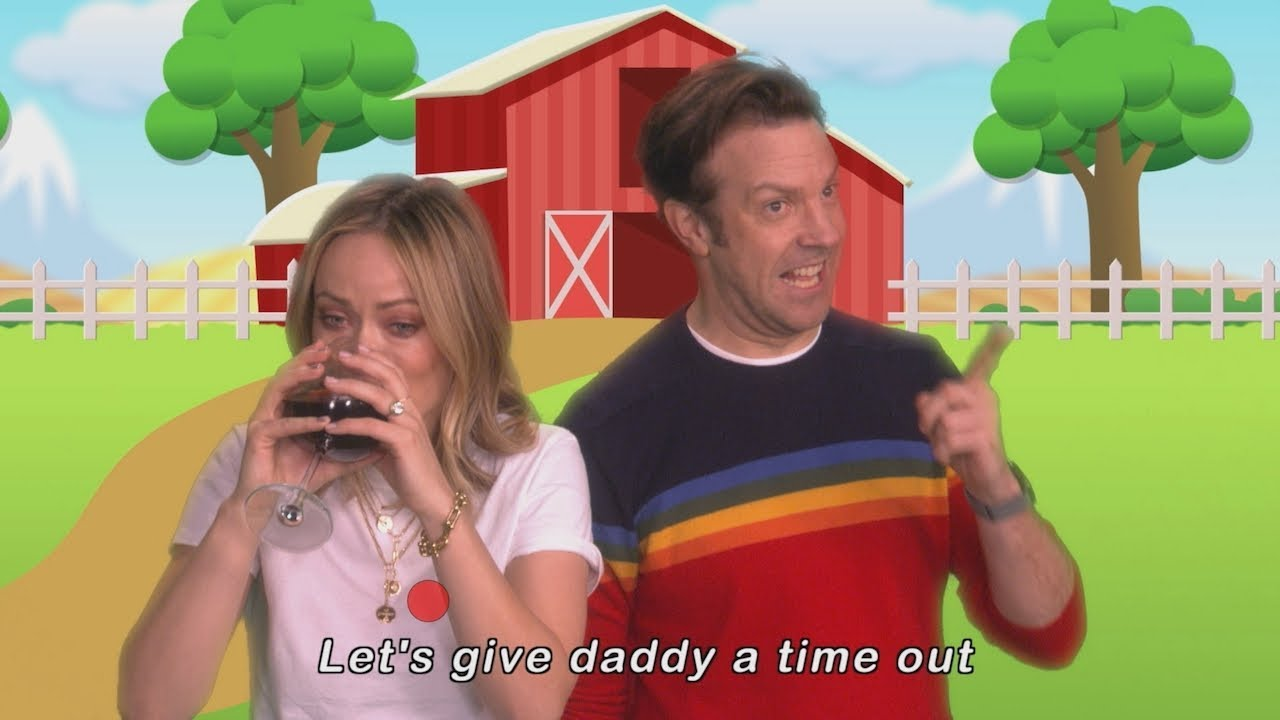 Jason Sudeikis and Olivia Wilde's 'Let's Give Mommy a Time Out' Music Video Debu