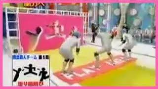 Funny Japanese Game Show Human Tetris