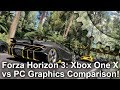 [4K] Forza Horizon 3: Xbox One X vs PC Graphics Comparison + Frame-Rate Test