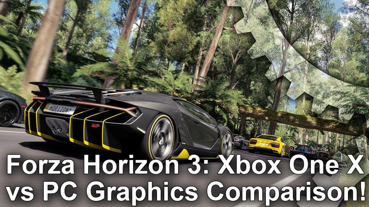 4k forza horizon 3 xbox one x vs pc graphics comparison - Is forza horizon 3 4k ...
