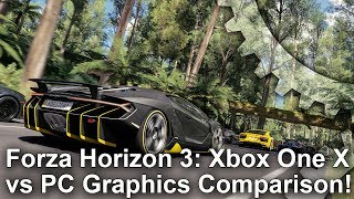 [4K] Forza Horizon 3: Xbox One X vs PC Graphics Comparison + Frame-Rate Test thumbnail