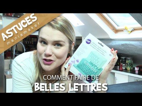 Comment faire de belles lettres en p te sucre youtube - Comment faire des decors en pate a sucre ...