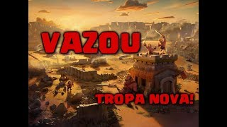 VAZOU GAMEPLAY DO BALÃO NOVO CLASH OF CLANS!!!