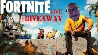 FORTNITE LIVE+GIVEAWAY SKIN! #greek #fortnite #live #nekdra #giveaway