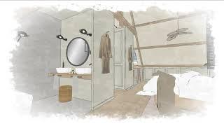 woonhuis Schoonhoven master bedroom met toilet