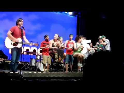 Bonnaroo 2011: The League Live - Jon Lajoie/Taco singing the Birthday song