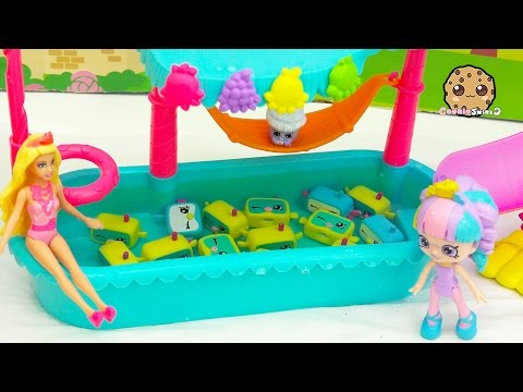 Thumbnail: School Of Snorky Pool - Shopkins Happy Places Doll Rainbow Kate + Barbie Go On Vacation