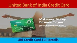United Bank of India Credit Card Full Details