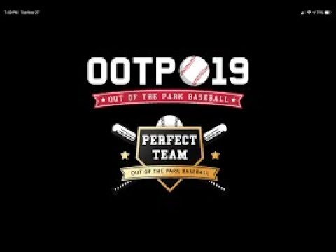 OOTP baseball 19 Perfect game pack opening and intro  