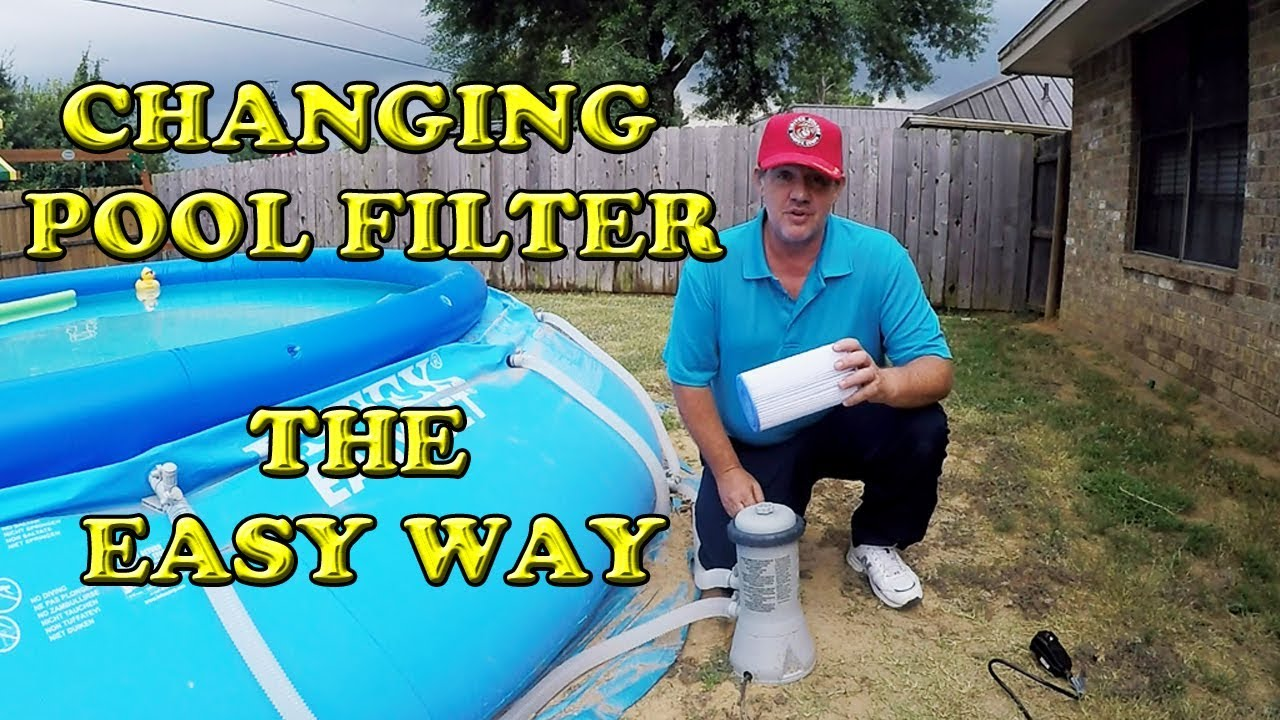 Intex Pool Pump Youtube Changing An Intex Pool Pump Filter The Easy Way