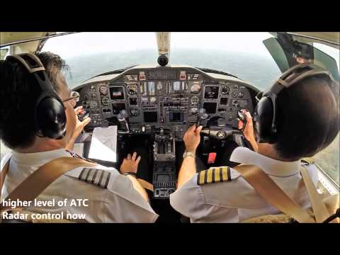 Flying the Citation Jet through Europe - cockpit view with ATC!