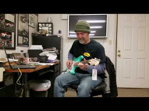 Stan C. Tunes & Tests My New Squier Stratocaster Electric Guitar
