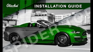 homepage tile video photo for Ford Mustang S550 Spider Top Installation Guide