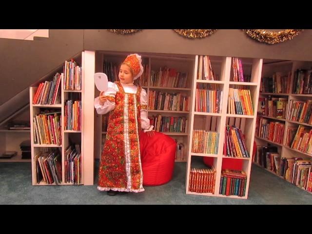 Изображение предпросмотра прочтения – МарияАфанасьева читает отрывок изпроизведения «Сказка о мёртвой царевне и о семи богатырях» А.С.Пушкина
