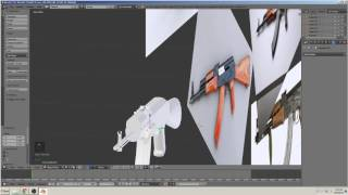 blender 3D التعليمي بناء بندقية (AK-47) جزء 7
