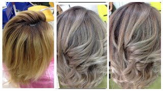 Окрашиваниеволос в серый цвет // HOW TO GET GREY HAIR with dark roots