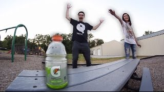 GIRLFRIEND BOTTLE FLIP CHALLENGE!
