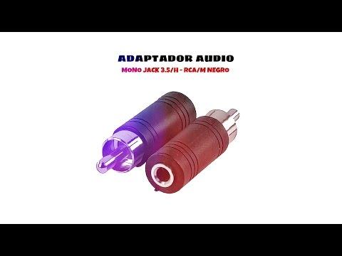 Video de Adaptador audio mono Jack 3.5/H - RCA/M  Negro