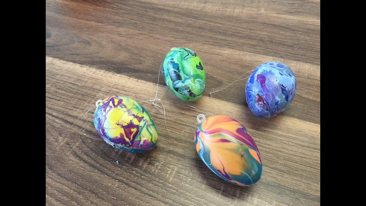 DIY Eier marmorieren mit einfachen Mitteln, basteln mit Kindern, Ostereier, Ostern YouTube ~ 04211908_Gartendeko Mit Kindern Gestalten