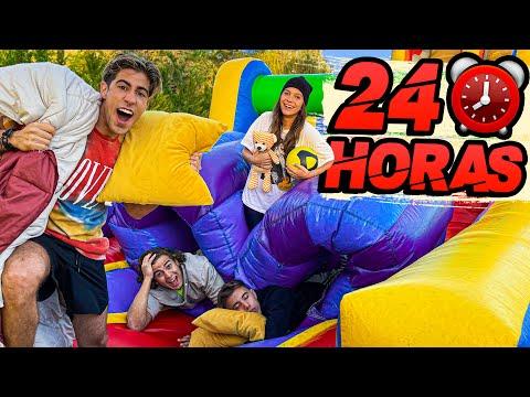 24 HORAS EN EL INFLABLE GIGANTE !!!
