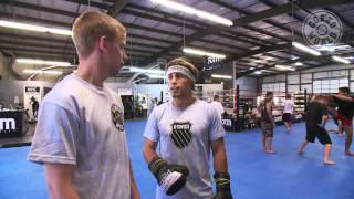 UFC mixed martial arts champion Urijah Faber trains with Gonzo FIT