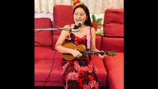ハワイ語のクリスマスソング。ジングルベルベルをハワイ語と英語で舞花が歌いました♬早く平和になり、ハワイや外国に行けますように.