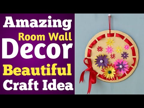 Amazing Room Wall Decor DIY Craft Idea With Colored Paper In Hindi || Art Ideas