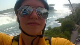 INCREDIBLE ZIP-LINING at the Falls (Mist Rider at Niagara Falls)